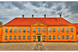 Former Royal Mansion, now Contemporary Art Museum in Roskilde, Denmark