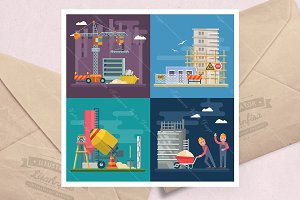 Construction vector flat
