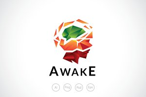 Awaken Mind Logo Template