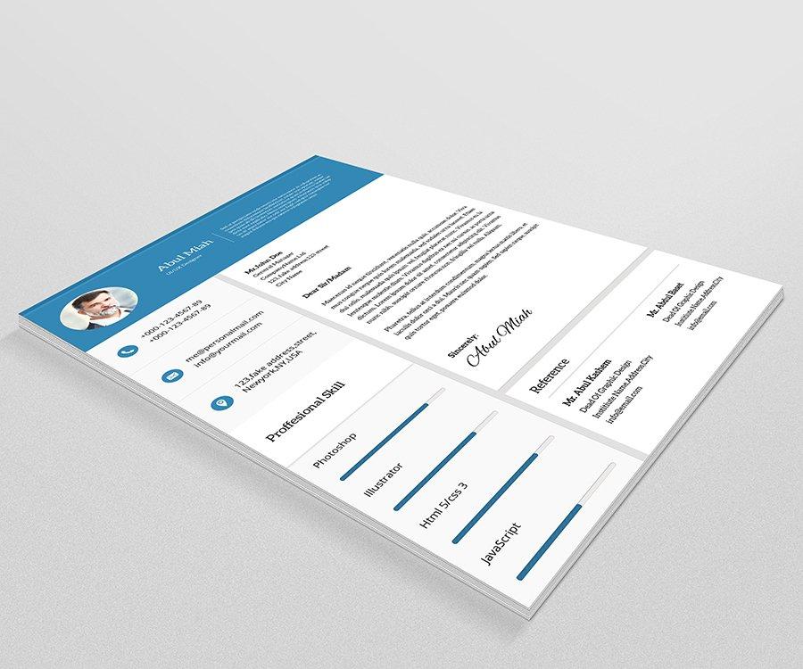 material resumecv v05 resume templates creative market