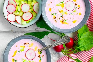 Spring radish soup