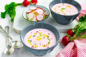 Summer radish soup