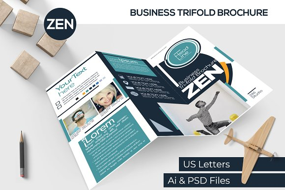 ZEN Business Trifold Brochure