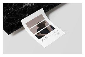 2 Postcard Flyers • Élodie