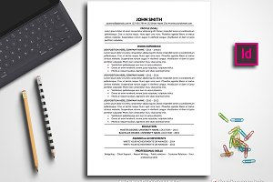 Resume Template Traditional InDesign