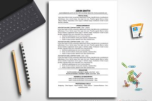 Simple Resume Template Pages