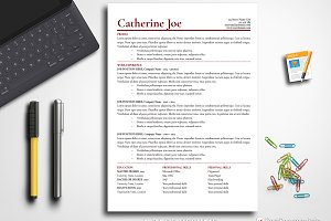 Simple Resume Template Pages & Word