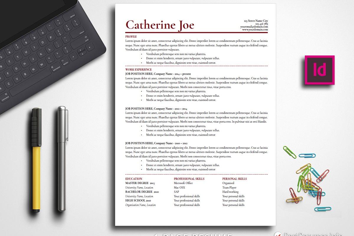Professional Resume Template Adobe