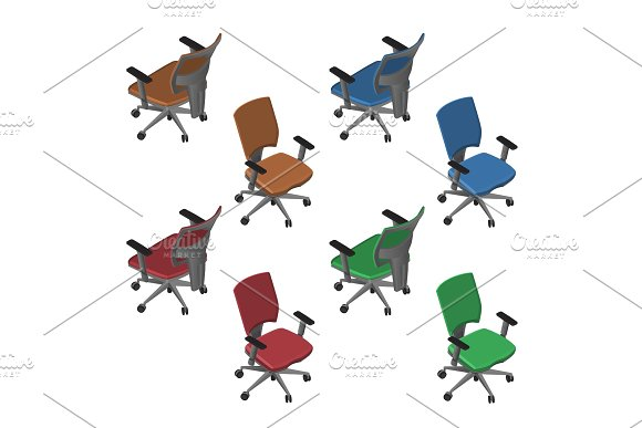 Isometric Office Chairs