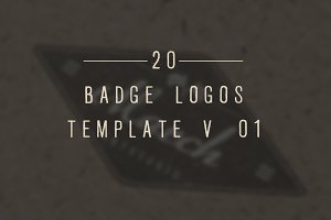 20 Vintage Badge/Logos Template V_01