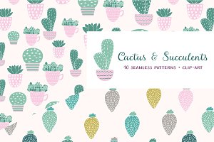 Cactus: seamless vector patterns