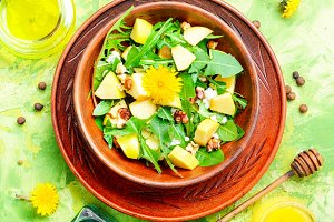 Diet vegetarian salad