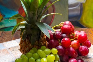 Grapes, pineapple and pear