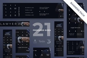 Banners Pack | Lawyer Services