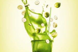 Green splash summer beverage