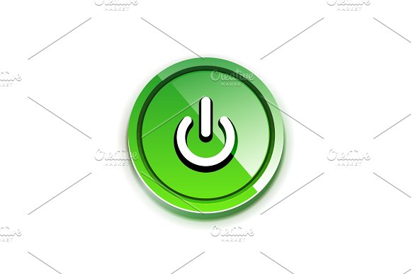 Power Button Icon Start Symbol Web Design UI Or Application Design Element