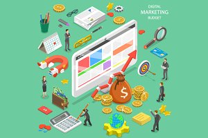 Digital marketing budget calculation