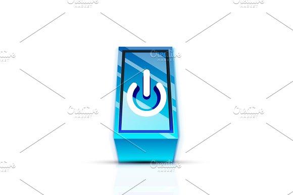 Power Button Icon Start Symbol Web Design UI Or Application Design Element