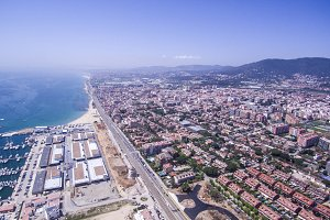 Maresme coast. Aerial shot.