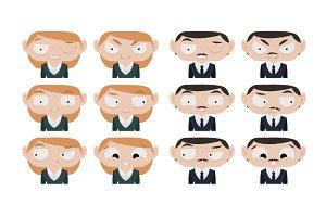 12 Avatar Facial Expressions