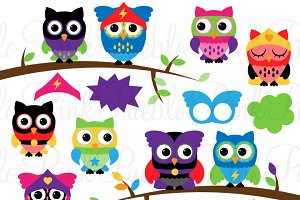 Superhero Owl Clip Art & Vectors