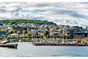 View of the ferry terminal at Horten - Norway