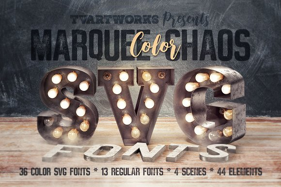 Marquee Chaos View Color Fonts