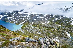 View of Djupvatnet lake from Dalsnibba mountain - Norway