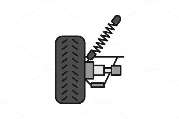 Car Suspension Color Icon