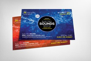 Electro Colors Party Flyer Template