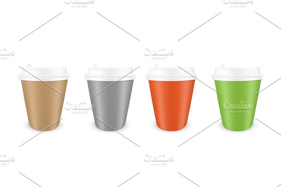 Colored Disposable Paper Coffee Cup