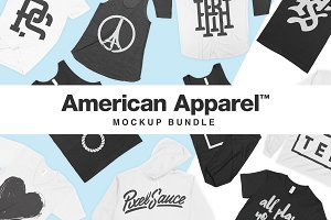 American Apparel Mockup Bundle