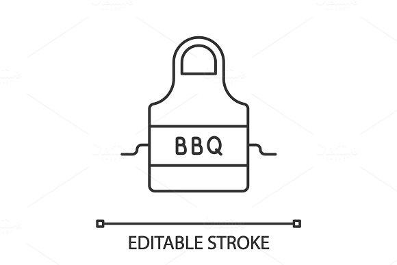 Barbecue Apron Linear Icon
