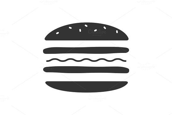 Burger Cutaway Glyph Icon