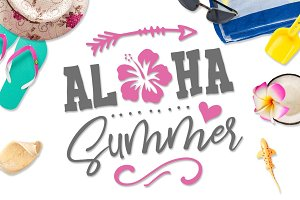 Aloha Summer SVG DXF PNG EPS