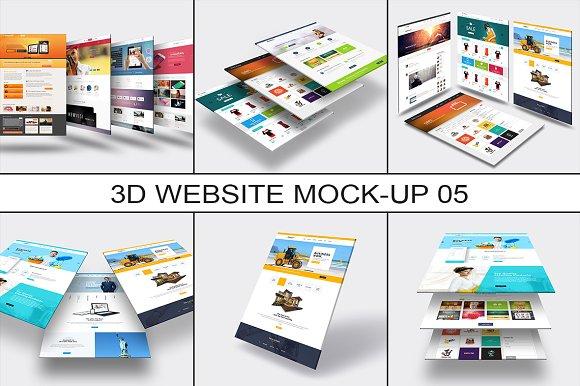 3D Website Mock-Up 5