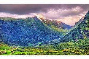 Landscapes of Norway in Sogn og Fjordane county