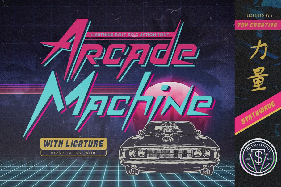 Arcade Machine 80 S Retro Font Display Fonts Creative Market