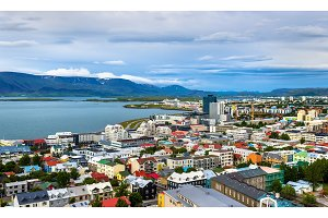 Reykjavik from top of the Hallgrimskirkja church
