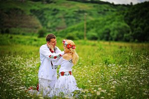 couple in traditional dress