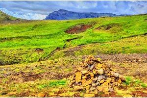 Landscape near the Skoga River - Iceland