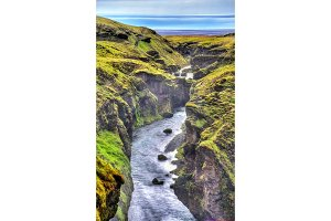 View of the Skoga River - Iceland