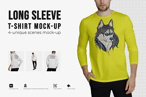 Long Sleeve T-shirt Mock-Up