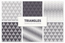 Triangles. Seamless Patterns. Set 3