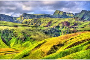 Mountains in South Iceland