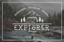 EXPLORER - Sailor Original Typeface by Icarus Bro in Slab Serif Fonts