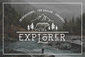EXPLORER - Sailor Original Typeface
