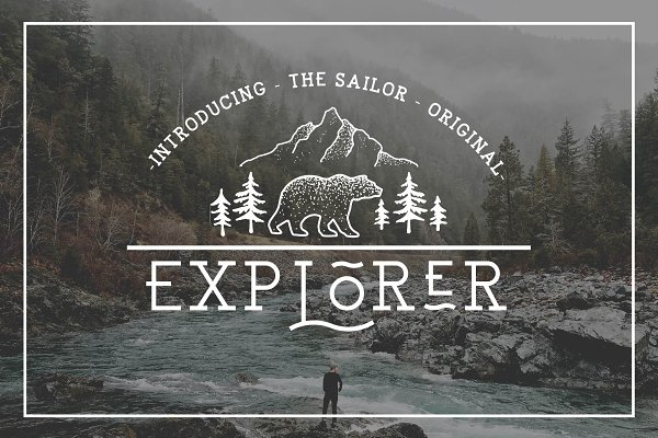Slab Serif Fonts: NEWFLIX.Bro - EXPLORER - Sailor Original Typeface