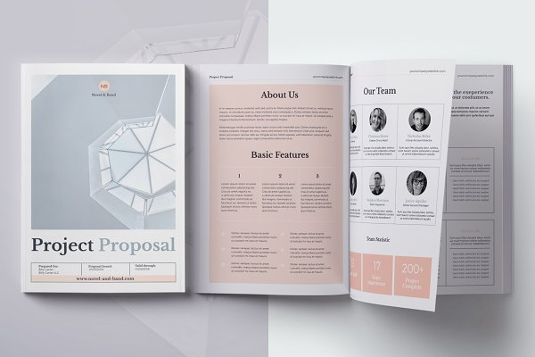 Brochure Templates: 3.14&Co - Project Proposal - Novel & Band