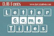 DJB Letter Game Tiles Fonts